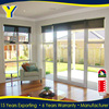 Good performance with thermal break frame and double glazed french Aluminum Glass Door Window