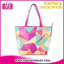2015 Wholesale digital printed Latest Design Girl Handbags lady Hand Bag