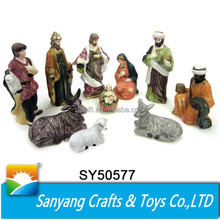 "Wholesale Christmas decoration for church 5.5"" ceramic Nativity set figurine"