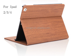 Ultra Thin Foldable Luxury Wood Grain Flip Stand Leather Original Case Smart Cover for apple ipad mini for ipad/2/3/4