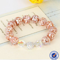 14K Gold Bead with Japanese Abalone Shell Bracelets