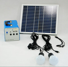 factory provided 10W solar power system wildely used as home lighting