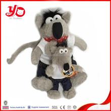 2015 EN-71 passed customized cute soft stuffed plush toy wolf