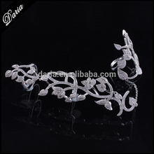 New design Adjustable Ladies Long Double Two Finger Ring with Chain / 925 Sterling Silver fashion ring finger rings photos