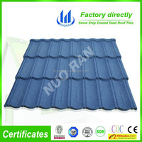 NUORAN natural slate roof tile/ stone chip coated metal roof tile