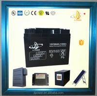 OME high capacity 12v solar ups battey 12v 38ah rechargeable deep cycle solar battery solar street light battery 12v 40ah