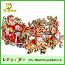 Christmas santa and reindeer outdoor decoration for glitter