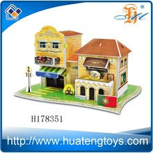 H178351 New Product Portugal wine estate 27 pieces DIY 3d custom puzzles educational model