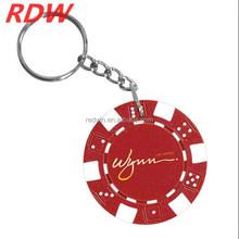 2015 RDW Red round pvc keyring,pvc rubber keychain,3d pvc keychain