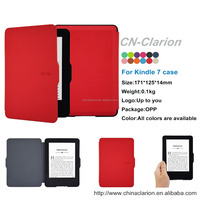 6'' E-reader 2014 new for kindle 7th Gen Leather Case, for kindle 7th Cover, Red