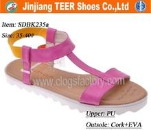 2015 China wholesale flat platform sandals shoes women