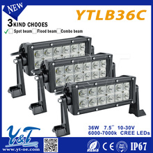 Factory low price 7.5'' 36W spot flood combo led for truck light bar with military Offroad Driving Lamp, 4x4 car accessor