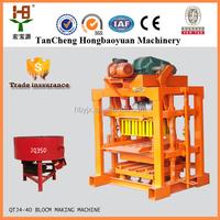 Best selling in Nigeria price concrete block machine QT4-40 cement brick block making machine price