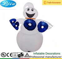 DJ-146 2015 hot white 4ft Airblown BOO inflatable ghost halloween decoration outdoor