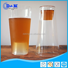 personalized lead free glass cup/Microwave safe.Dishwasher safe double wall glass