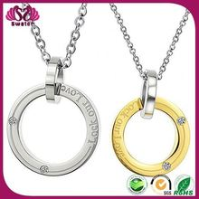 Lovers new arrivals hot selling Two Stone Circle Necklace
