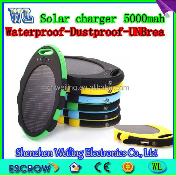 Waterproof ellipse solar charge/solar power bank 5000mah,power bank supply wholesale,led power bank,power bank for iphone 5