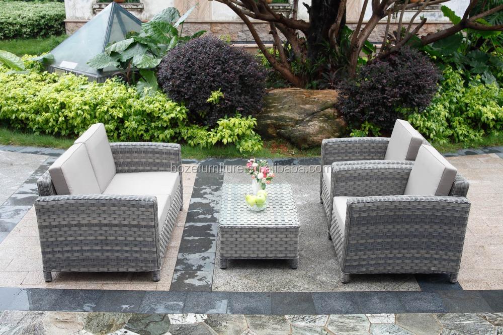 Aluminum Sofa Set Garden Rattan 4 Pcs Sofa Set Popular Round Rattan Cheap Pat
