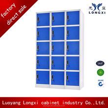 commercial furniture metal 15 door locker,knock down 15 door new design metal locker,penco locker