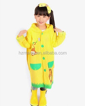 yellow and green pvc children poncho