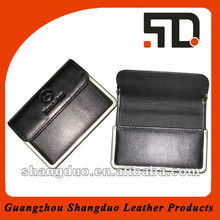 Aliabab China High-end Leather Business Card Case With Metal Rim