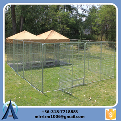 2015 Powder coating or galvanized comfortable big dog kennels