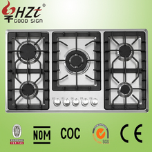 2015 battery stove for cooking/fashion gas cooker/stainless steel 5 burner portable gas stove