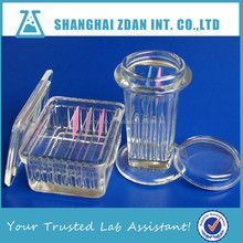 Glass Staining Jar, Dyeing Jar Microscope slides Square Cover or Round Cover