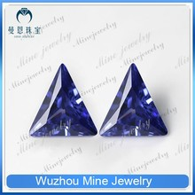tananite color loose gems stoned triangle shape cubic zircon