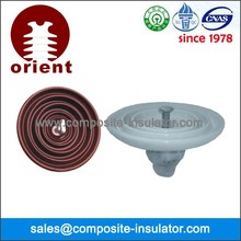 Porcelain clevis and tongue type suspension insulator