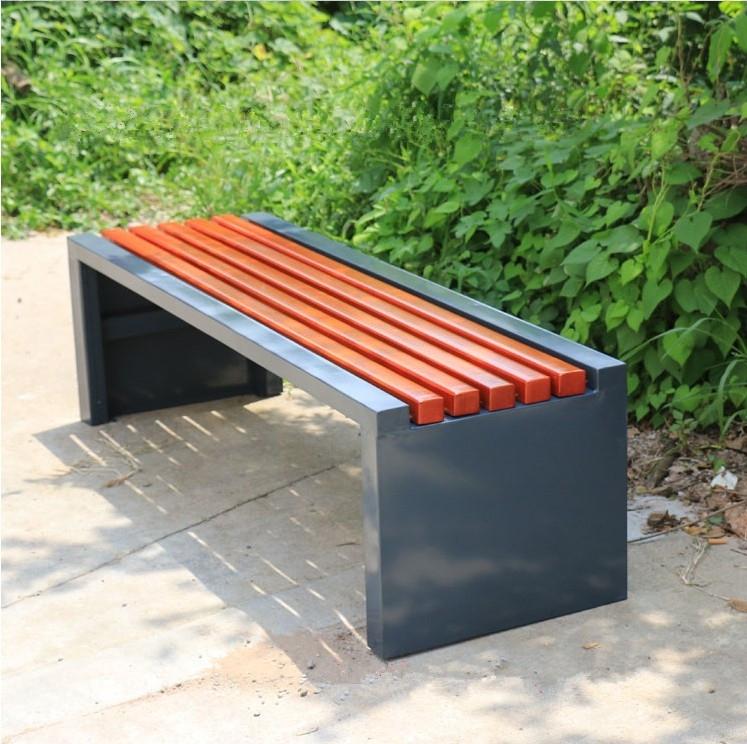 Wood Plastic Simple Style Long Commercial Metal Outdoor Furniture Garden Bench Buy Outdoor
