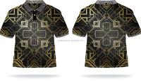 Hot sale 2016 new design polo shirt with custom pattern,men t shirt digital printing