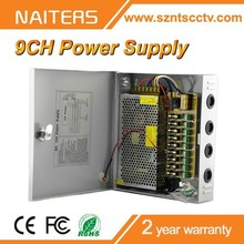 hot selling 120w 12v 10a 9 channel output cctv power supply