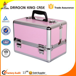 pink aluminum makeup case