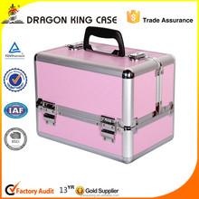 pink aluminum makeup case