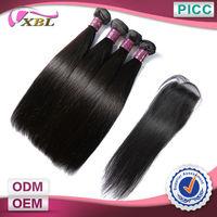 12''14''16''10''' Free Shipping Hair Bundles With Closure 6A Virgin Hair Extension Brazil Virgin Human Hair