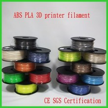 Excellent quality 3d printer filament Pla ABS plastic Flexible filament 1.75mm 3mm