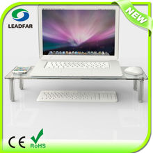 Elegant reliable detachable LCD monitor stand with acrylic pillar