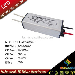12-18*1w waterproof electronic led driver
