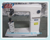 WB-820 Double needle Post bed lock stitch sewing machine for shoes, bags post-bed shoe repairing sewing machine