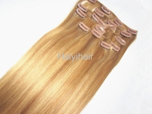 Unprocessed wholesale cheapest human hair pieces 32 inch hair extensions clip in