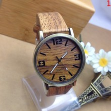 Novel design 5 Colors New Arrival Fashion Leather strap Anchor GENEVA Watches Women wooden Dress Watches