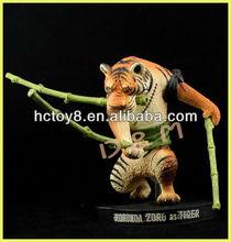 Venta al por mayor de la serie de anime One piece 15 aniversario animal PVC figura de accion juguete Zoro