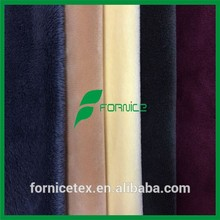 polyester short pile super soft velboa fleece fabric