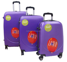 360 Free Spinner Trolley Luggage With Ultralight ABS, Size 20 24 28 Luggage Cabin Suitcase Set