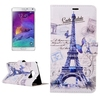 Factory price Eiffel Tower pattern leather case for Samsung note 5 edge phone case
