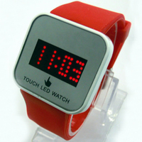 Hot new model led mirror touch screen hand watch for men and women