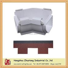 135 degree inside corner gutter accessories PVC and aluminum, Asphalt shingle roof material factory