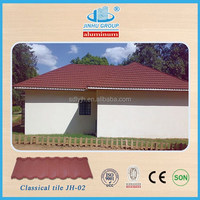 high quality cheap price stone coated metal roof tile for construction buliding material in Chile