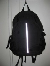 Black with Cycling Reflective Strip Hiking Backpack